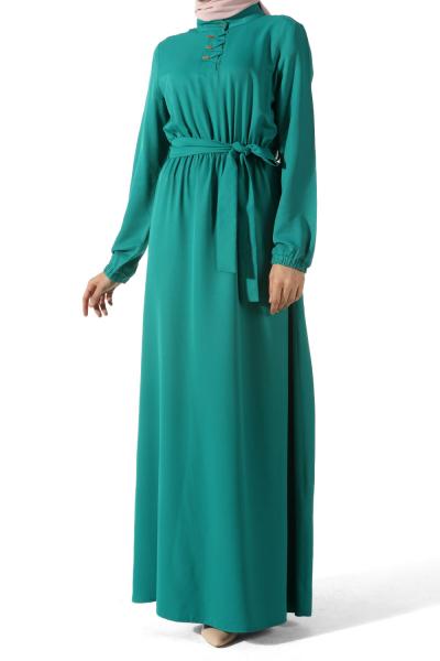 Patlı Bel Lastikli Elbise