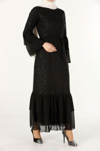 LINED LACED DRESS
