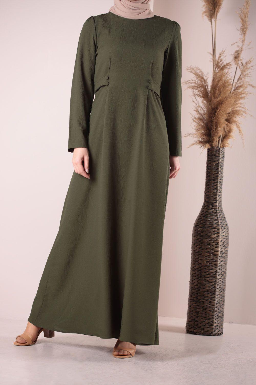 Bel Detaylı Elbise