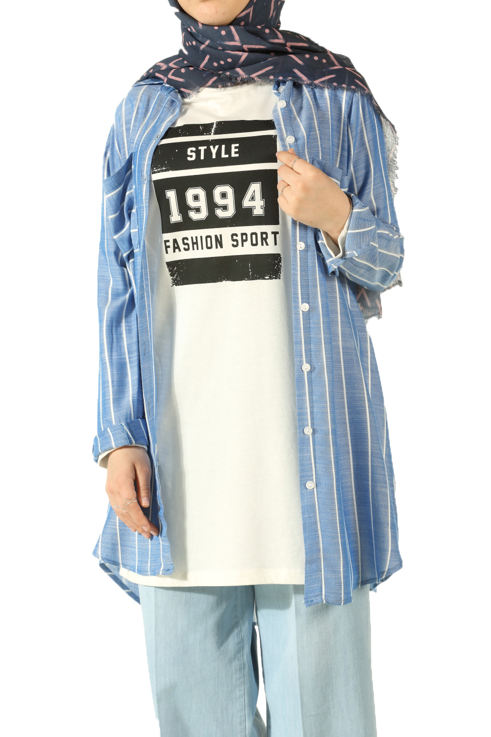 OLD RACE PRINTED PEN TUNIC