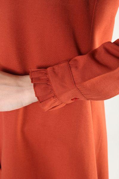 Eteği Fırfırlı Gömlek Tunik
