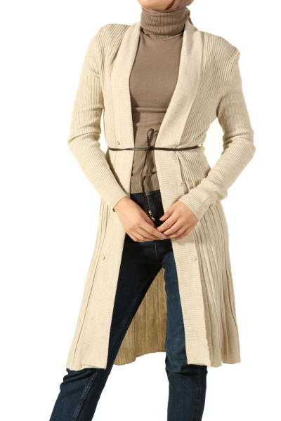 FLARED HEM KNITWEAR CARDIGAN