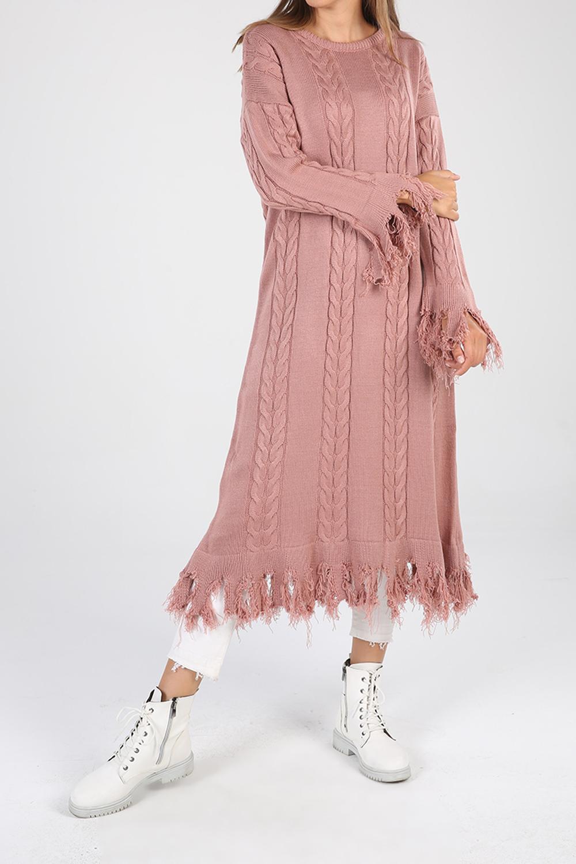 Tasseled Long Knitwear Tunic