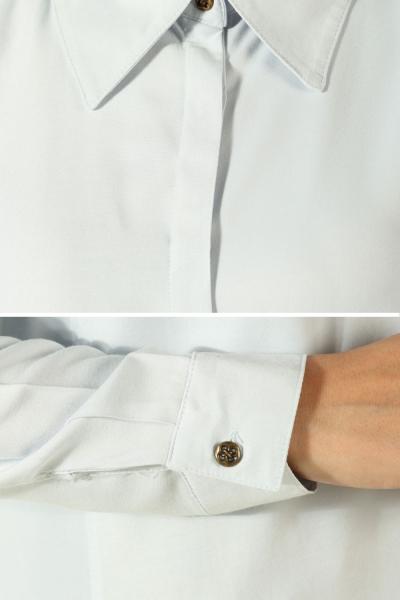 Eteği Yırtmaçlı Tam Patlı Uzun Gömlek Tunik