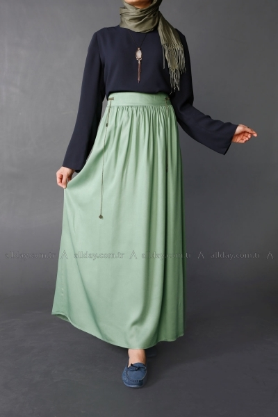 Decorative Zippered Skirt