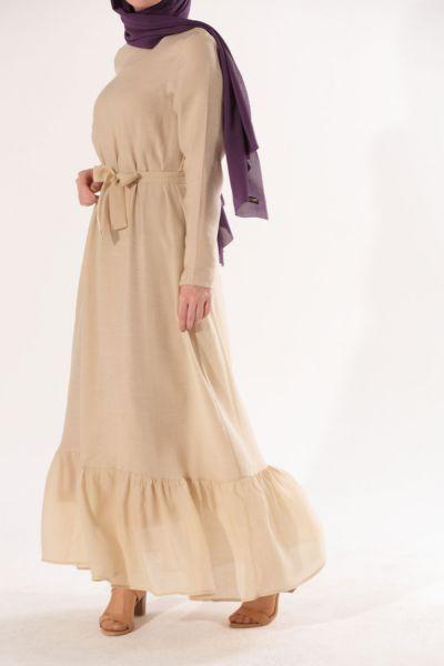 Etek Büzgülü Elbise