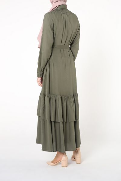 Etek Pileli Elbise