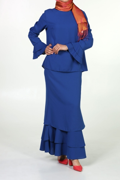 HIJAB SUIT WITH FLOUNCED SKIRT
