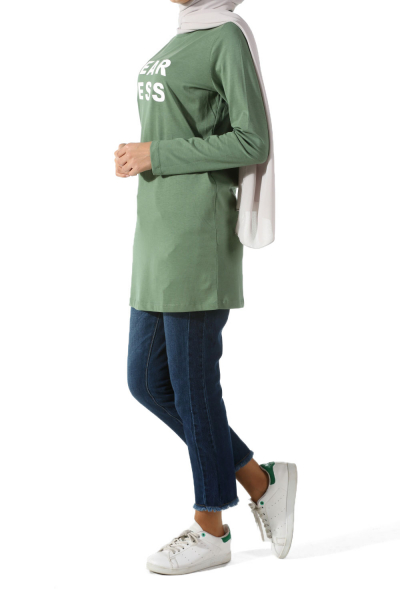 Fear Less Combed Cotton Tunic
