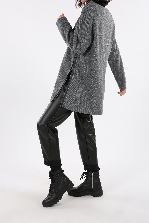 Zipper Detail Sweatshirt Tunic