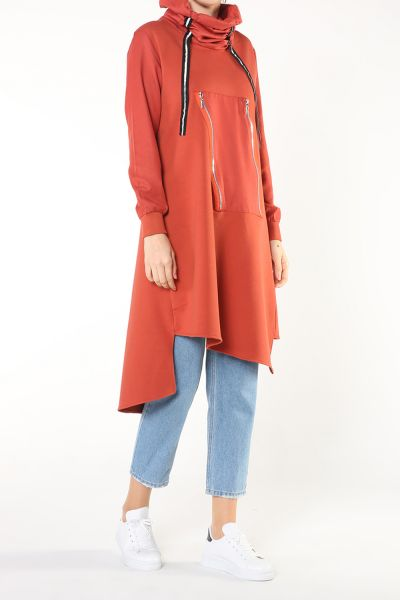 ZIPPERED DETAIL TUNIC