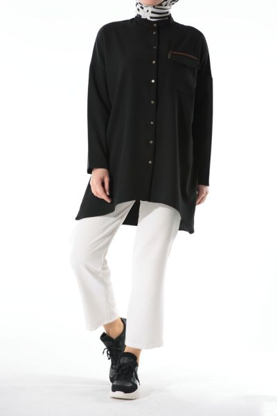 ZIPPERED BLOUSE