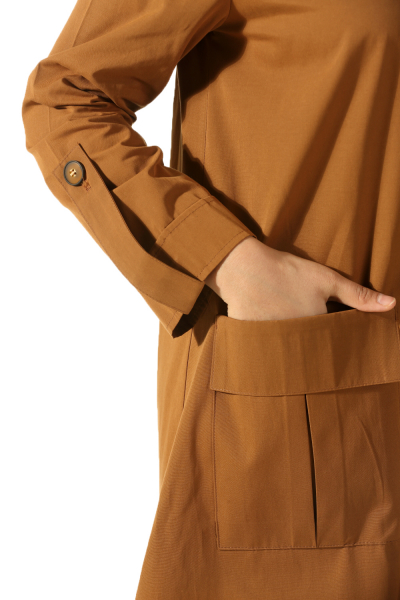 ZIPPER TRENCH COAT WITH POCKET