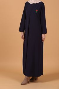 ZIPPERED ABAYA