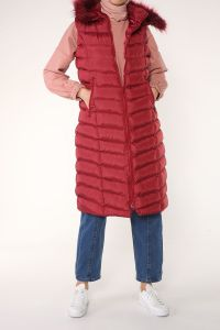 Zippered Hooded Vest