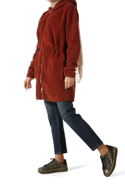 ZIPPERED PLUSH CARDIGAN