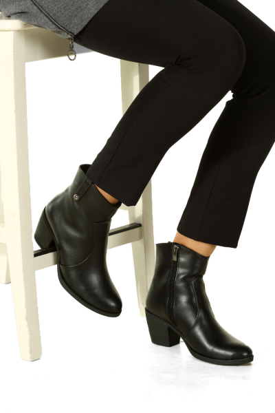 ZIPPER HEELED BOOTS