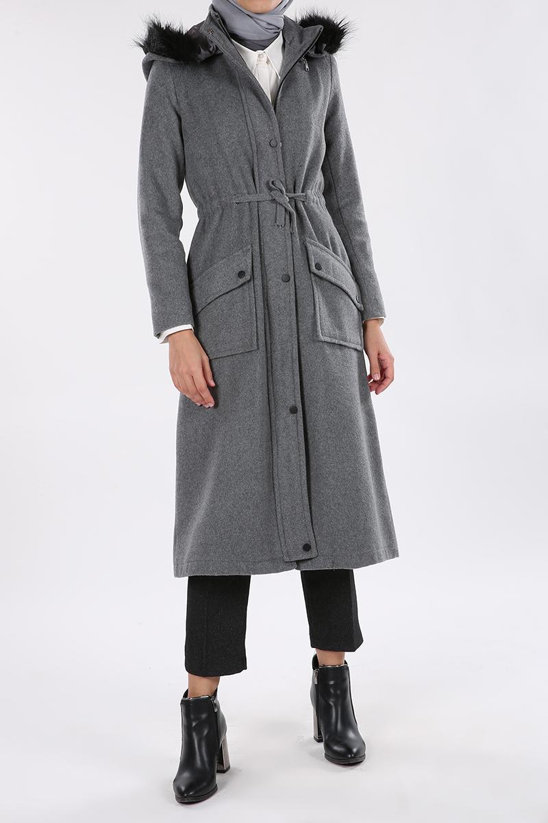 Zippered Long Coat