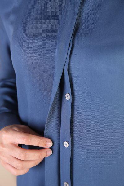 File Detay Garnili Düğmeli Tunik