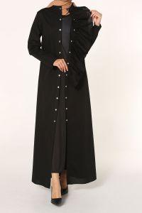 Fırfır Detaylı Elbiseli İkili Takım