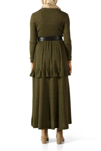 Fırfırlı Kuşaklı Elbise