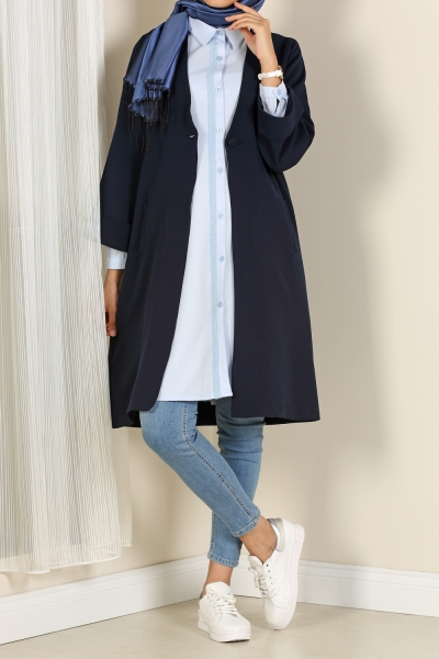 FLATAL BUTTON LONG JACKET
