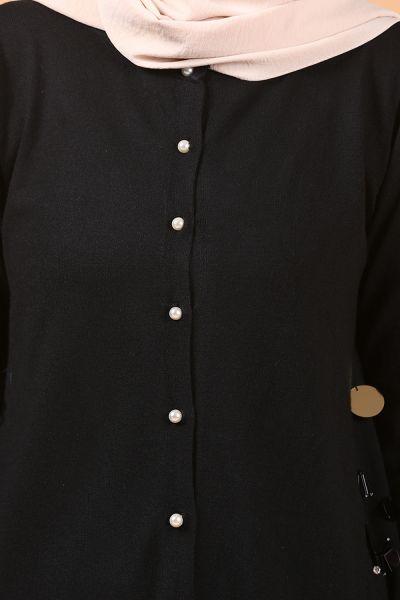 FTZ İnci Düğmeli Triko Tunik