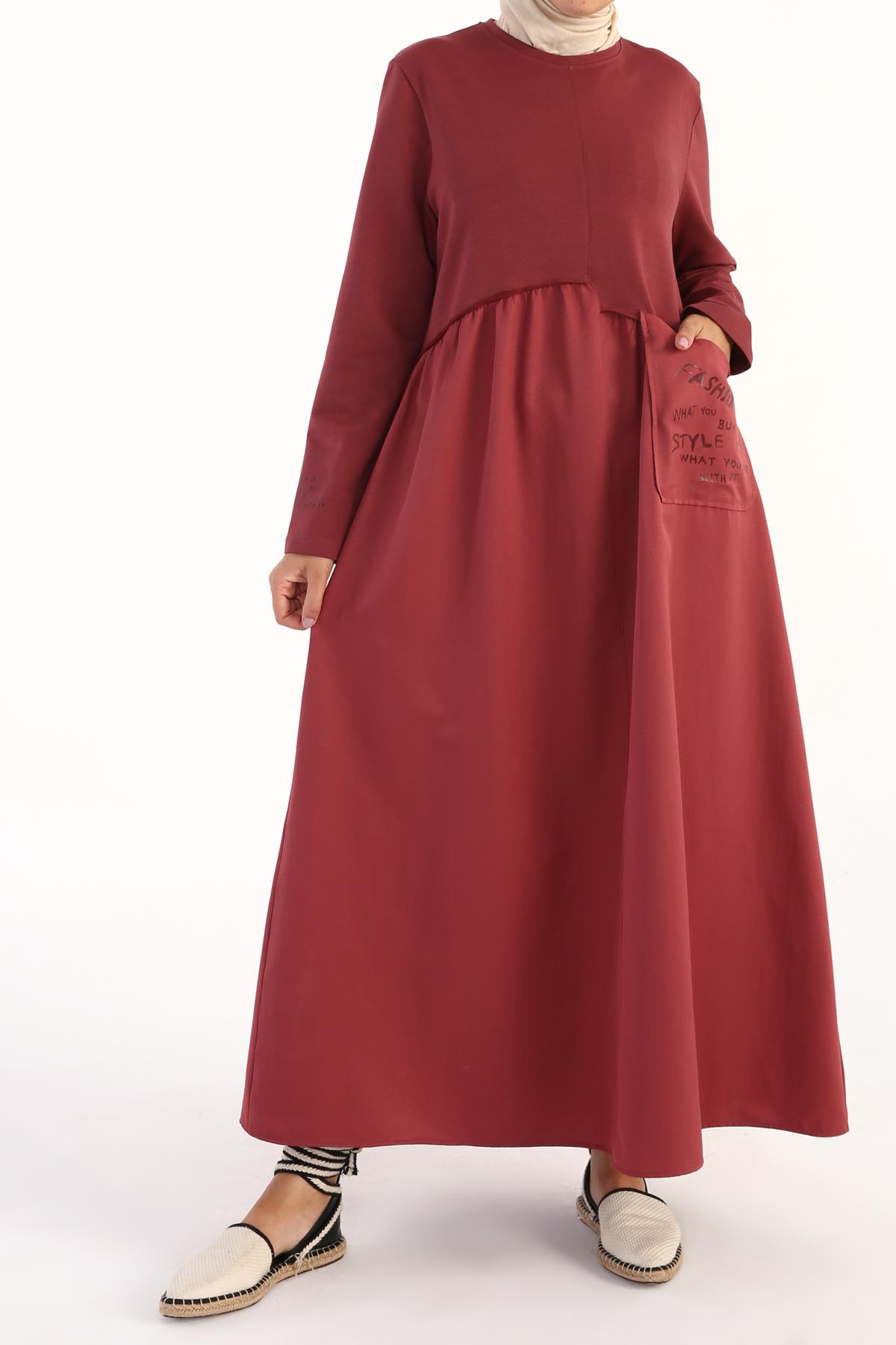 Pockets Printed Comfy Dress