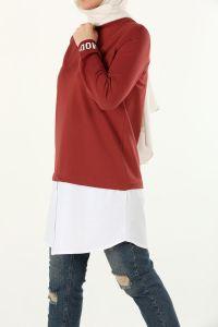 Kol Baskılı Gömlek Garnili Tunik