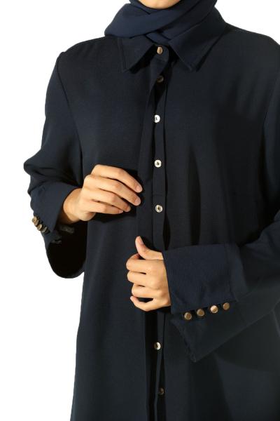 Geniş Manşetli Gömlek Tunik