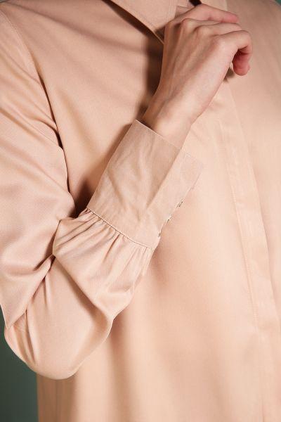 Wide Collar Long Tunic