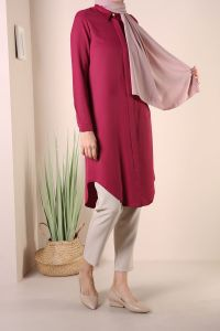 BASIC TUNIK WITH HIDDEN BUTTONS