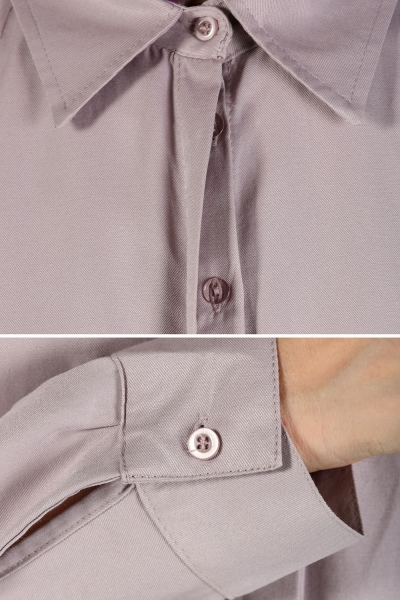 BIG SIZE TUNIC WITH HIDDEN BUTTON
