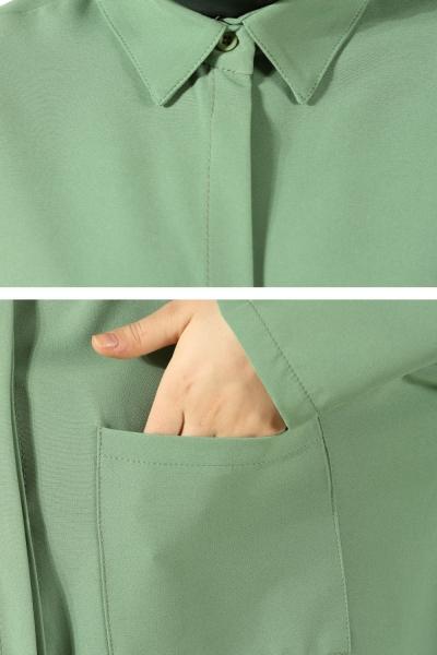 Hidden Button Blouse