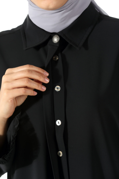 Tulle Sleeve Tunic