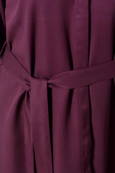 Viskon Kuşaklı Nakışlı Gömlek Tunik