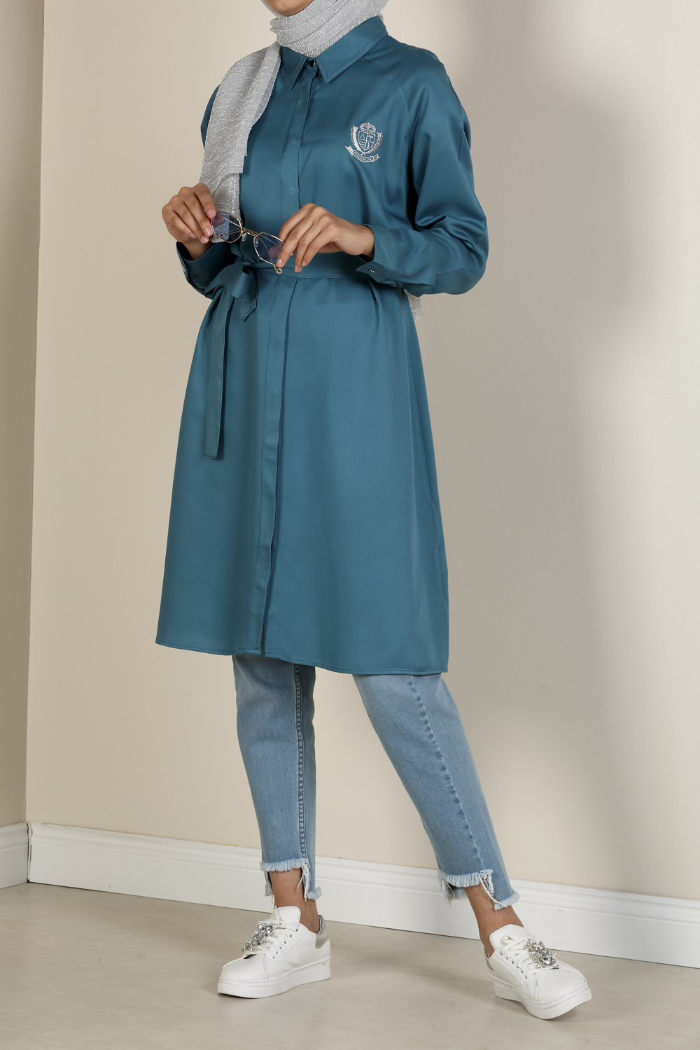 Belted Embroidered Tunic