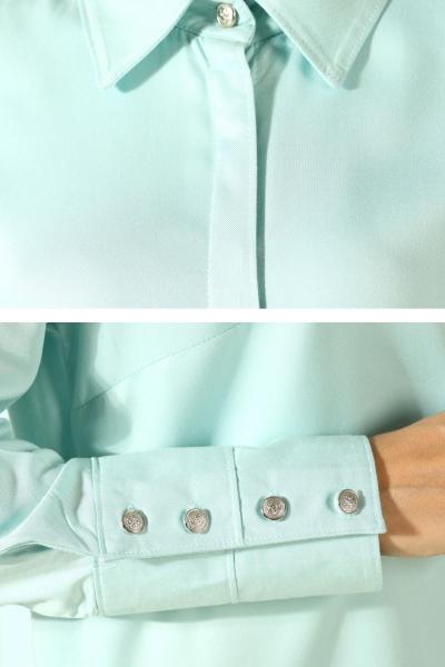 Viskon Gizli Patlı Nervürlü Gömlek Tunik