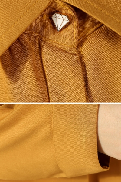 Hidden Button Raglan Sleeve Tunic