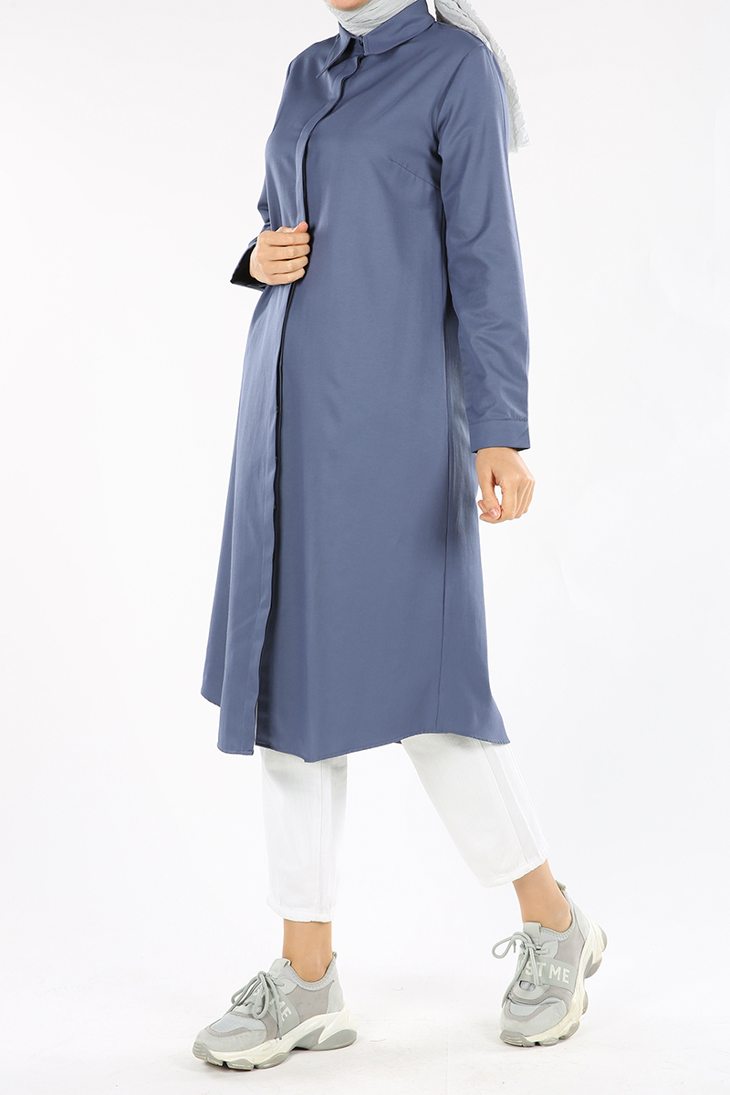 Hidden Button Long Tunic