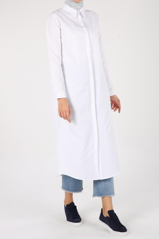 Cotton Long Shirt Tunic