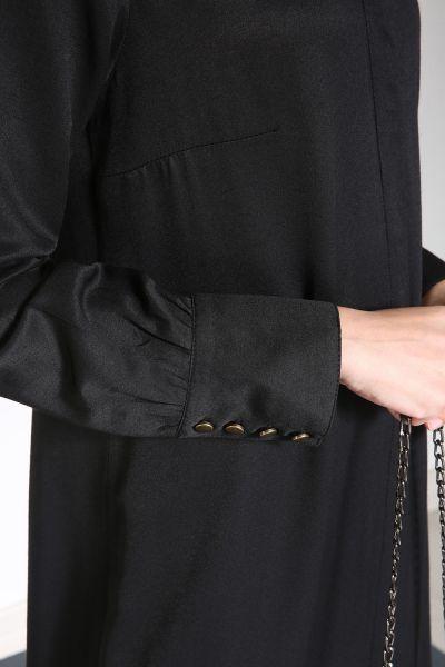 Yarece Gizli Patlı Uzun Düğmeli Tunik