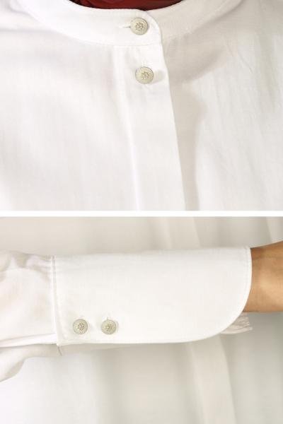 Gizli Patlı Yüksek Manşetli Gömlek Tunik