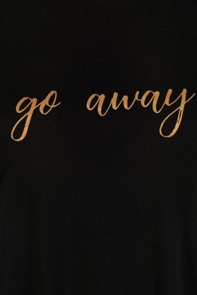 Go Away Baskılı Penye Tunik