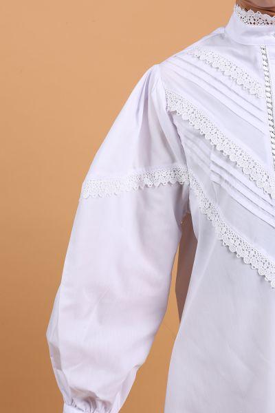 Göğüs Nervürlü Dantel Detay Tunik