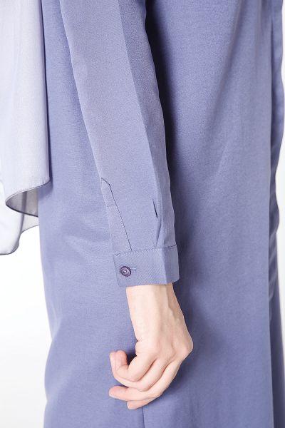 Gizli Düğmeli Uzun Gömlek Tunik