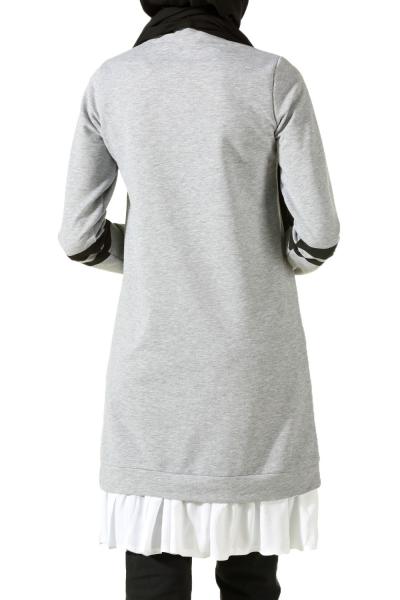 Gömlek Garnili Penye Tunik