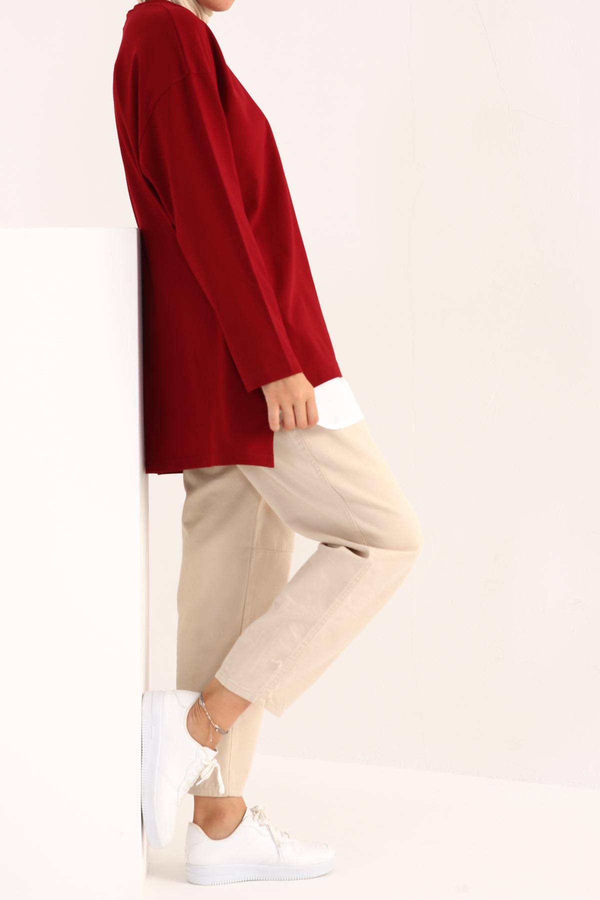 Comfy Hem Detailed Sweatshirt Tunic