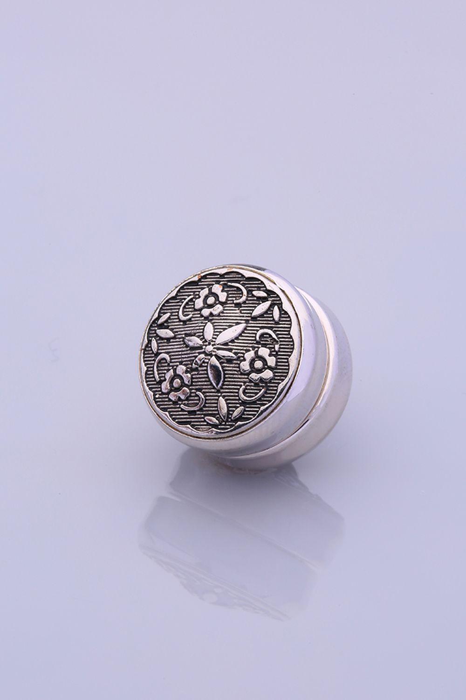 Gümüş Kaplama Eşarp Mıknatısı