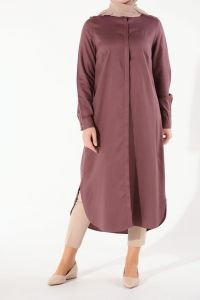 JUSTICE NATURAL FABRIC LONG TUNIC